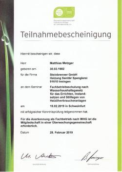 Haustechnik Zertifikat Sanitär Heizung Klima